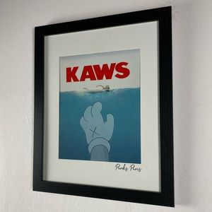Kaws Jaws / pardis Paris framed wall art